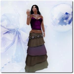 D-Style - Snowflake Skirt Gradient